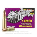 Cheap 7.62x39mm Ammo For Sale - 123 Grain HP Ammunition in Stock by Golden Bear - 20 Rounds