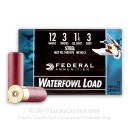 """Cheap 12 ga - 3"""" 1-1/4 oz #3 Steel Waterfowl Load - Federal Speed-Shok - 25 Rounds"""