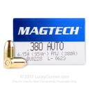 380 Auto Ammo In Stock - 95 gr FMJ - 380 ACP Ammunition by Magtech For Sale - 50 Rounds
