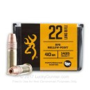 Premium 22 LR Ammo For Sale - 40 Grain LRN Ammunition in Stock by Browning Performance Rimfire - 400 Rounds