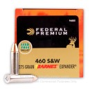 Premium 460 S&W Mag Ammo For Sale - 275 Grain Barnes Expander SCHP Ammunition in Stock by Federal Vital-Shok - 20 Rounds