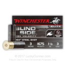 "Cheap 12 Gauge Ammo For Sale - 3"" 1-1/8 oz. #3 Steel Shot Ammunition in Stock by Winchester Blind Side - 25 Rounds"