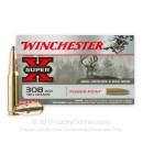 Bulk 308 Ammo For Sale - 180 Grain Power Point Ammunition in Stock by Winchester Super-X - 200 Rounds