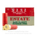 """Cheap 12 Gauge Ammo For Sale - 3"""" 1-3/8 oz. #2 Steel Shot Ammunition in Stock by Estate HV - 25 Rounds"""
