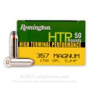 Bulk 357 Mag Ammo For Sale - 158 gr SJHP Remington High Terminal Performance Ammunition In Stock - 500 Rounds