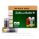"Cheap 12 ga Ammo For Sale - 2-3/4"" #4 Buck 27 Pellets Ammunition by Sellier & Bellot - 10 Rounds"