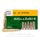 Cheap 30-06 Hunting Ammo For Sale - 150 gr SPCE - Sellier & Bellot Ammo Online - 20 Rounds