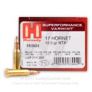 Non-toxic 17 Hornet Ammo For Sale - 15.5 gr SPF - Hornady Superformance Varmint Ammunition In Stock - 25 Rounds