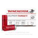 "Cheap 12 Gauge Ammo For Sale - 2 3/4"" 1 oz. #7 1/2 Shot Ammunition in Stock by Winchester Super Target - 25 Rounds"