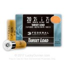 "Cheap 20 ga Ammo For Sale - 2-3/4"" 7/8 oz 7 1/2 lead shot by Federal Top Gun - 25 Rounds"