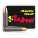 30 Carbine Ammo In Stock - 110 gr FMJ - Tula Ammunition For Sale - 50 Rounds
