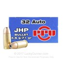 Cheap 32 ACP JHP Ammo For Sale - 71 gr JHP Prvi Partizan Ammo Online - 50 Rounds