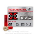"""Cheap 28 Gauge Ammo For Sale - 2-3/4"""" 3/4 oz. #5 Shot Ammunition in Stock by Winchester Super-X - 25 Rounds"""