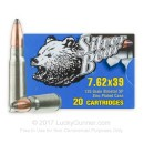 7.62x39 Ammo For Sale - 125 gr SP Ammunition by Silver Bear In Stock - 20 Rounds