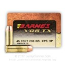 45 Long Colt Barnes Ammo For Sale - 200 gr XPB Hollow Point Barnes Ammunition In Stock - 20 Rounds