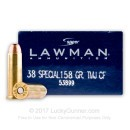 Bulk 38 Special Ammo For Sale - 158 Grain TMJ Ammunition in Stock by Speer Lawman - 1000 Rounds
