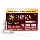 Premium 22 LR Ammo For Sale - 40 Grain LHP Ammunition in Stock by Federal Hunter Match - 50 Rounds