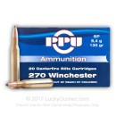 Cheap 270 Win Ammo In Stock  - 130 gr Prvi Partizan SP Ammunition For Sale Online - 20 Rounds
