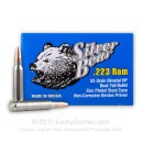 Cheap Silver Bear 223 Rem Ammo For Sale - 55 grain HP Ammunition In Stock - 20 Rounds