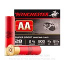 "Cheap 28 Gauge Ammo For Sale - 2-3/4"" 3/4 oz. #8.5 Shot Ammunition in Stock by Winchester AA Sporting Clays - 25 Rounds"