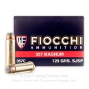 357 Mag Ammo For Sale - 125 gr SJSP Fiocchi Ammunition In Stock
