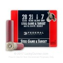 "Cheap 28 Gauge Ammo For Sale - 2-3/4"" 5/8 oz. #7 Shot Ammunition in Stock by Federal Steel Game and Target - 25 Rounds"