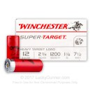 "12 Gauge Ammo - 2-3/4"" Lead Heavy Shot Target shells - 1-1/8 oz - #7-1/2 - Winchester Super Target - 25 Rounds"