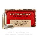 Cheap 45 Long Colt Ammo For Sale - 250 Grain RNFP Ammunition in Stock by Ultramax- 50 Rounds
