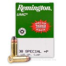 38 Special + P - 125 gr SJHP - Remington UMC- 600 Rounds