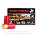 "12 Gauge Ammo - Winchester Super Pheasant 2-3/4"" #4 Shot - 25 Rounds"