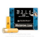 "Cheap 20 Gauge Ammo For Sale - 3"" 7/8 oz. #4 Steel Shot Ammunition in Stock by Federal Speed-Shok - 25 Rounds"