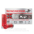"""Bulk 12 Gauge Ammo For Sale - 2-3/4"""" 1oz. #7 Steel Shot Ammunition in Stock by Winchester Super-X Xpert - 100 Rounds"""