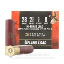"Cheap 28 Gauge Ammo For Sale - 2 3/4"" 3/4oz. #8 Shot Ammunition in Stock by Federal Wing Shok Upland Hi Brass - 25 Rounds"