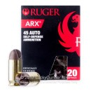 Premium 45 ACP Ammo For Sale - 118 Grain Ruger ARX Ammunition in Stock by PolyCase - 20 Rounds
