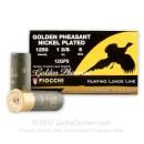 """Bulk 12 ga 2-3/4"""" Golden Pheasant Fiocchi Shells For Sale - 2-3/4"""" Nickel Plated Lead #5 Turkey Loads by Fiocchi - 250 Rounds"""