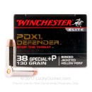 38 Special +P Ammo for Sale  - 130 gr JHP - Winchester Supreme Elite Bonded Ammunition - 20 Rounds