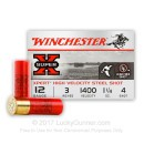 """Premium12 Gauge Ammo For Sale - 3"""" 1-1/4 oz. #4 Steel Shot Ammunition in Stock by Winchester XPERT HV - 25 Rounds"""