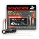 "Premium .45 LC / .410 bore Ammo For Sale - 225 grain JHP  / 2-1/2"" Shotshell Ammunition in Stock by Winchester Defender - 20 Rounds"