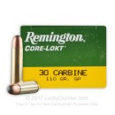 Cheap 30 Carbine Hunting Ammo For Sale - 110 gr SP - Remington Express Ammunition Online - 50 Rounds