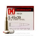 Cheap 5.45x39 Ammo For Sale - 60 Grain V-Max Ammunition in Stock by Hornady - 50 Rounds