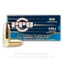 Bulk 9mm Ammo For Sale - 158 Grain FMJ Ammunition in Stock by Prvi Partizan - 1000 Rounds