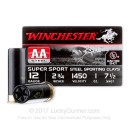 """12 Gauge Ammo - Winchester 2-3/4"""" #7-1/2 AA Steel Sporting Clay - 25 Rounds"""