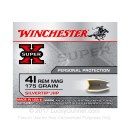 Premium 41 Remington Mag Ammo For Sale - 175 Grain Silvertip JHP Ammunition in Stock by Winchester Super-X - 20 Rounds