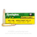 30-06 Ammo For Sale - 180 Grain SP - Remington Core-Lokt Ammo Online - 20 Rounds