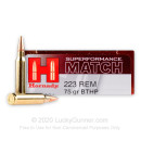 223 Rem - 75 gr HPBT Superformance Match - Hornady - 20 Rounds