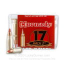 Premium 17 Mach 2 Ammo For Sale - 17 Grain V-Max Polymer Tip Ammunition in Stock by Hornady - 500 Rounds