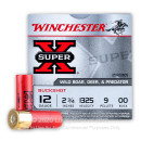 "Bulk 12 Gauge Ammo For Sale - 2-3/4"" 9 Pellet 00 Buckshot Ammunition in Stock by Winchester Super-X - 250 Rounds"