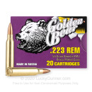 Cheap 223 Rem Ammo For Sale - 55 Grain FMJ Ammunition in Stock by Golden Bear - 20 Rounds