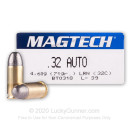32 ACP Ammo For Sale - 71 gr LRN Magtech Ammo Online