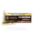 Premium 6.5 Creedmoor Ammo For Sale - 140 Grain HPBT Sierra Match King Ammunition in Stock by Federal Gold Metal - 20 Rounds